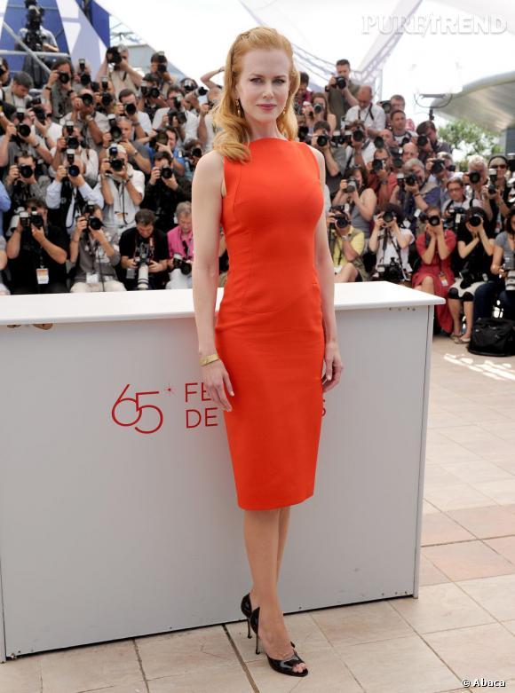Nicole Kidman, ultra vitaminée en robe Antonio Berardi au Festival de Cannes 2012.