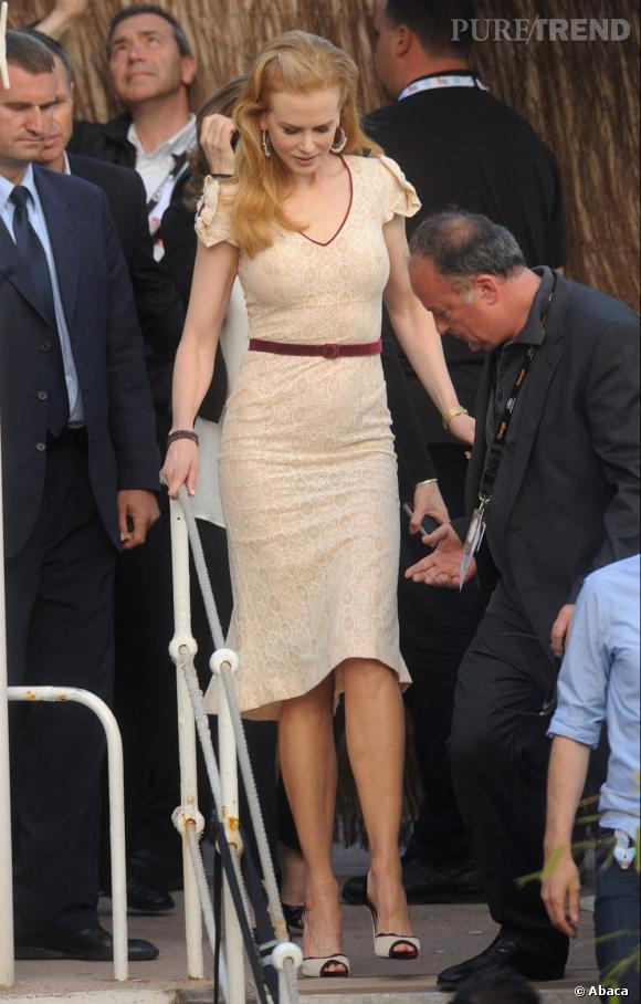 Nicole Kidman en L'Wren Scott pour le Grand Journal au Festival de Cannes 2012.