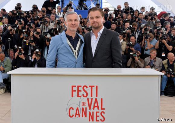 "Baz Luhrmann et Leonardo DiCaprio au photocall de ""Gatsby le Magnifique""."