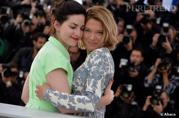 """Léa Seydoux et Rebecca Zlotowski, la réalisatrice de """"Grand Central""""."""