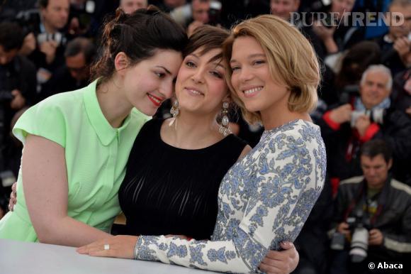 L'équipe du film : Rebecca Zlotowski, Camille Lellouche et Léa Seydoux.