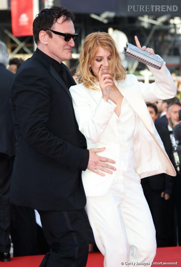 Mélanie Laurent et Quentin Tarantino mettent le feu sur le tapis rouge cannois.