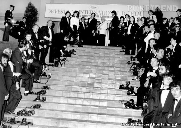 Isabelle Adjani boudée par les photographes lors du Festival de Cannes de 1983.