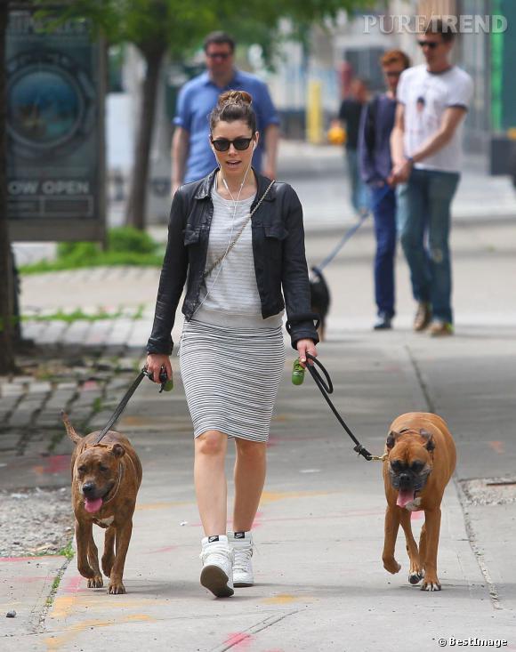 Jessica Biel dans les rues de New York.