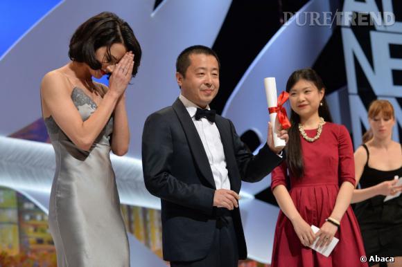"""Asia Argento au côté de Jia Zhangke, prix du meilleur scénario pour """"A Touch of Sin""""."""