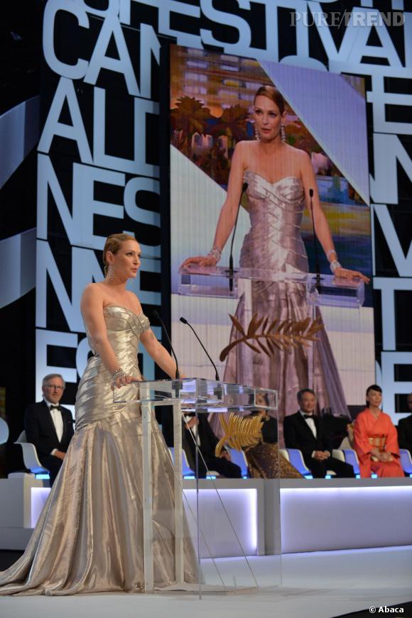 Uma Thurman a remis la Palme d'Or ce soir là.