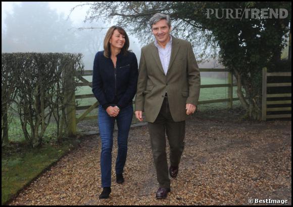 Carole et Michael Middleton chez eux à Bucklebury dans le Bershire.