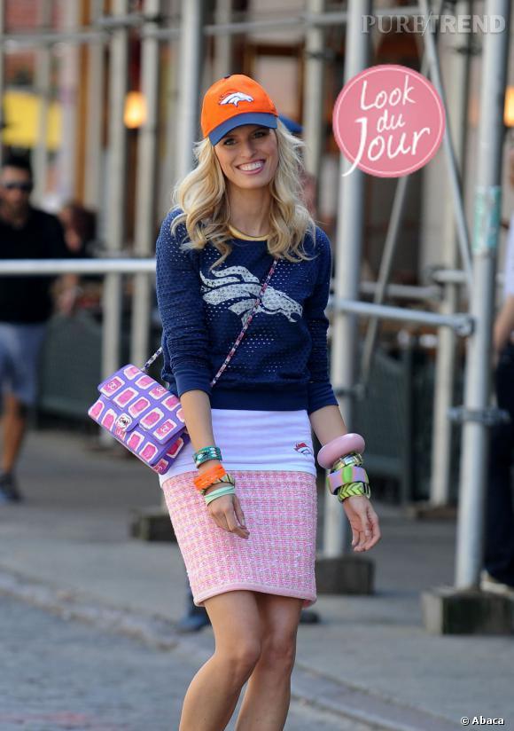 Karolina Kurkova dans les rues de New York.