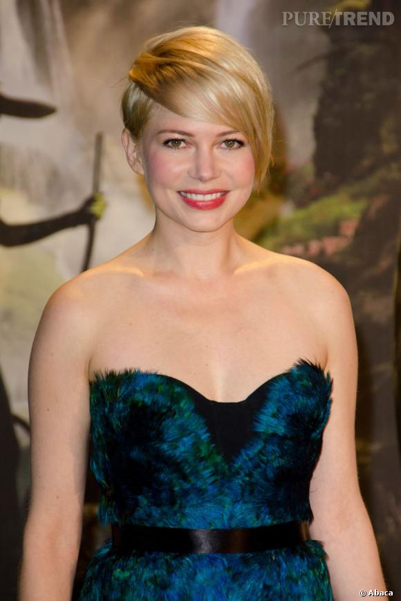 Les plus beaux blonds d'Hollywood : Michelle Williams, jolie garçonne blonde.