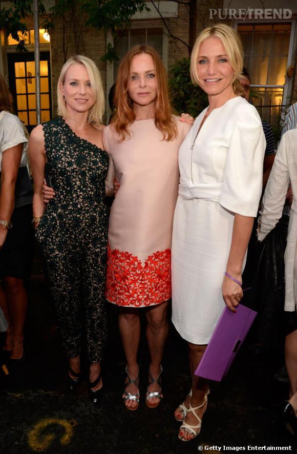 Naomi Watts, Stella McCartney et Cameron Diaz à la soirée Stella McCartney.