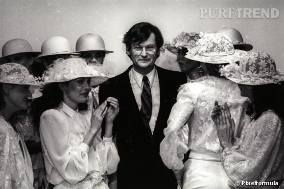 Jean-Louis Scherrer lors de son défilé 1981.