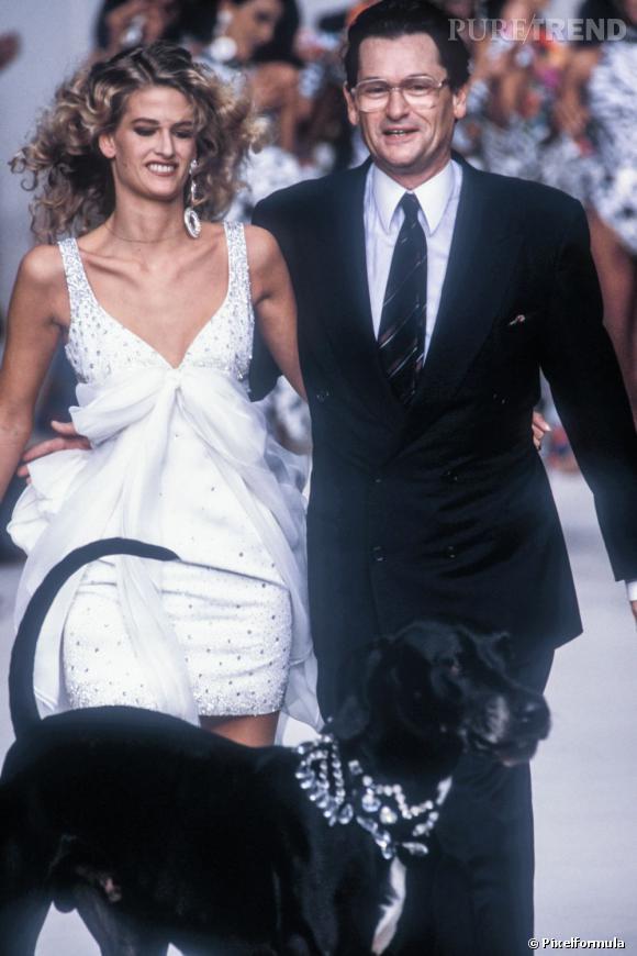 Défilé Haute Couture de Jean-Louis Scherrer 1991.