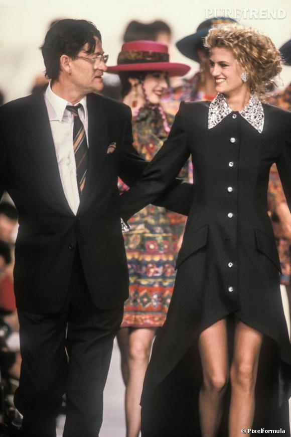 Défilé Jean-Louis Scherrer preêt-à-porter 1990.