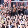 """Brad Pitt reçu en véritable star pour la promotion de """"World War Z"""" à New York."""