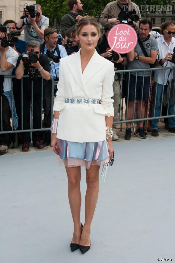 Olivia Palermo au défilé Haute Couture Automne-Hiver 2013/2014 Christian Dior à Paris.