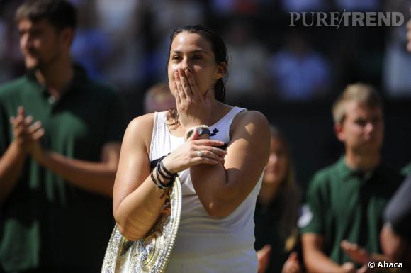 Marion Bartoli, sa victoire à Wimbledon ternie par la bourde d'un journaliste.