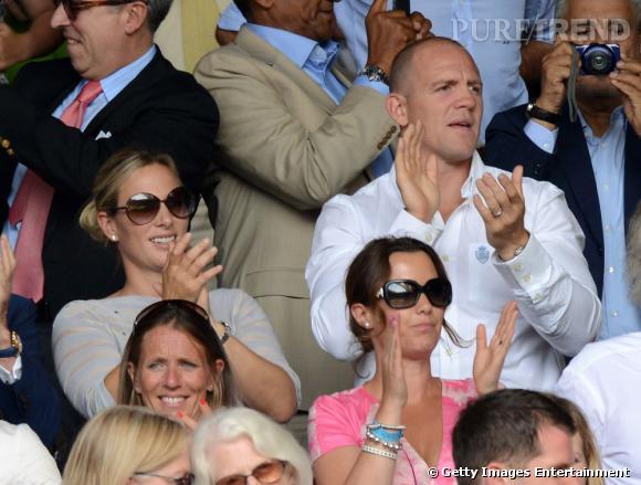 Zara Phillips, ici à gauche était à Wimbledon ce week-end !