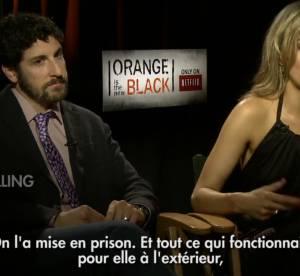 Taylor Schilling et Jason Biggs : duo comique dans la nouvelle serie ''Orange is the new Black''
