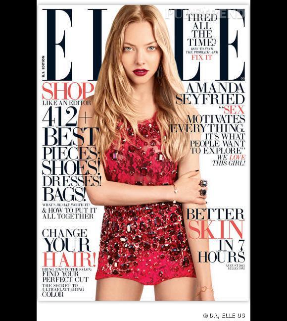 Amanda Seyfried fait la couverture du ELLE US d'août 2013, et n'hésite pas à y parler d'attirance sexuelle...