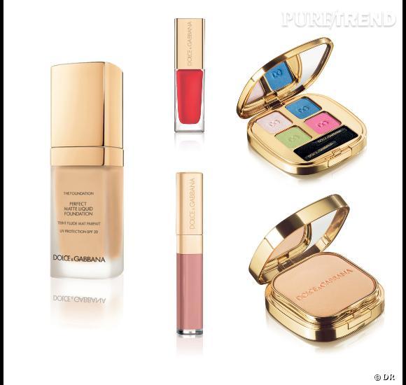 Fond de teint, gloss, vernis, palettes... La ligne de maquillage Dolce & Gabbana est très complète.
