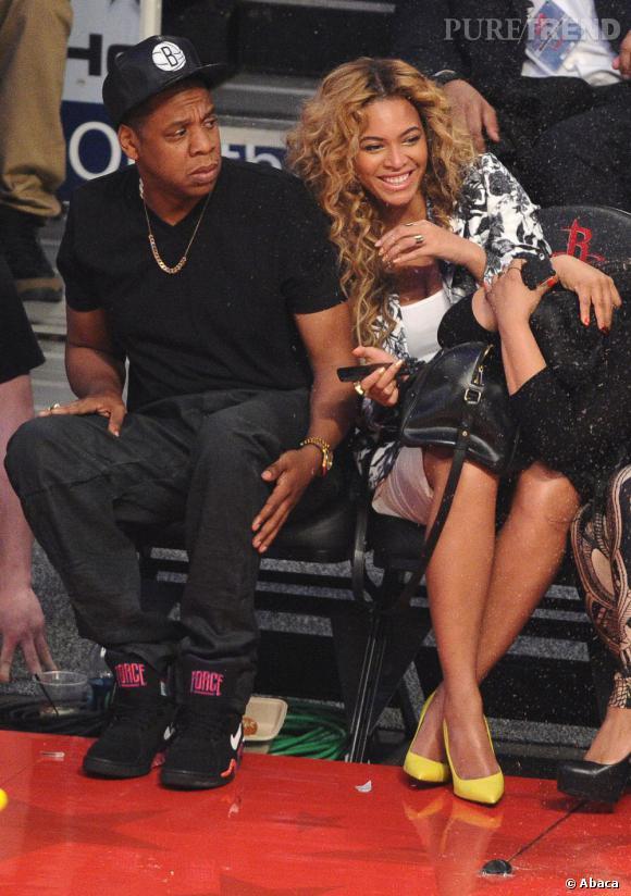 Beyoncé et son mari Jay-Z au premier rang mais sans être hystériques !