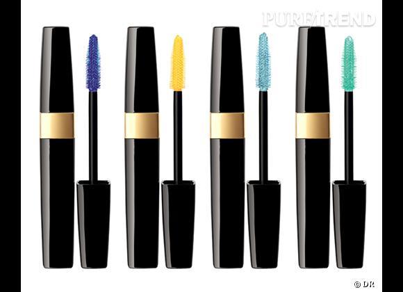 Shopping beauté : adoptez le mascara coloré cet été    Mascaras Inimatable Waterproof, coloris Blue Note, Zest, Aqua Blue et Lime Light, Chanel, 30 € chacun