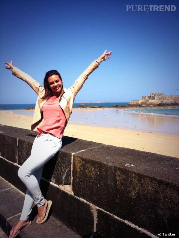 Marine Lorphelin profite d'une petite pause à Saint Malo avant de partir en Guadeloupe.