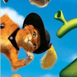 """Antonio Banderas en 5 rôles. Le film : """"Shrek 2"""". L'année : 2004. Son rôle : Le chat poté."""