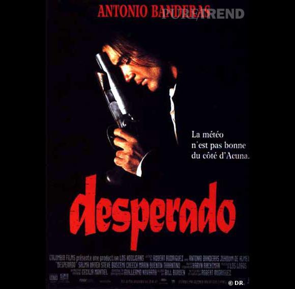 """Antonio Banderas en 5 rôles.     Le film  : """"Desperado"""".     L'année :  1995.    Son rôle :  El Mariachi."""