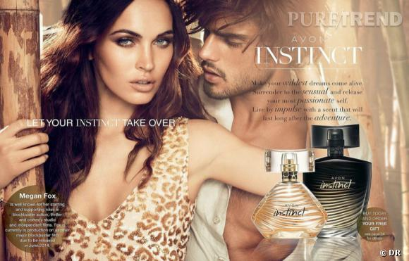 Megan Fox, sexy et sensuelle pour le parfum Instinct d'Avon.