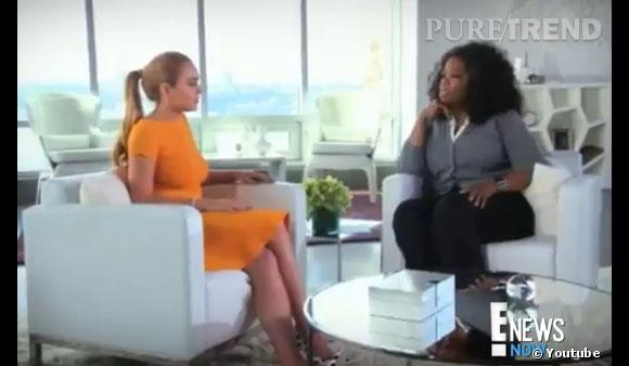 """Lindsay Lohan n'a pas eu peur d'avouer à Oprah Winfrey être sa """"pire ennemie""""."""