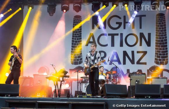 Les Franz Ferdinand sur scène à Rock en Seine 2013.