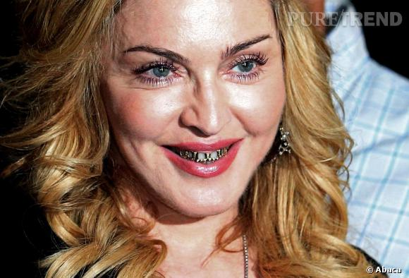 Pour l'une de ses dernières apparitions en date, Madonna a fait le choix du grillz.