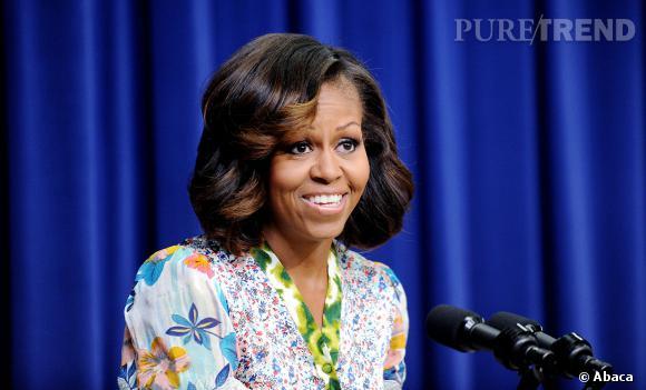 En début de semaine, Michelle Obama a surpris tout le monde en se montrant avec les cheveux éclaircis sur les longueurs.