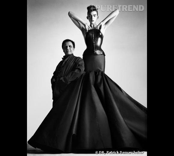 Alaïa, robe bustier, couture P/E 2003 Bustier de cuir moulé et jupe en taffetas Archives personnelles de Monsieur Alaïa