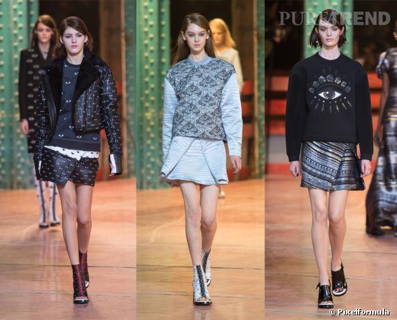 Le sweat Couture, des podiums au dressing Kenzo, défilé Automne-Hiver 2013/2014