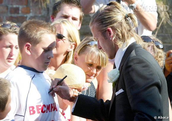 David Beckham aussi l'a portée à ses débuts.