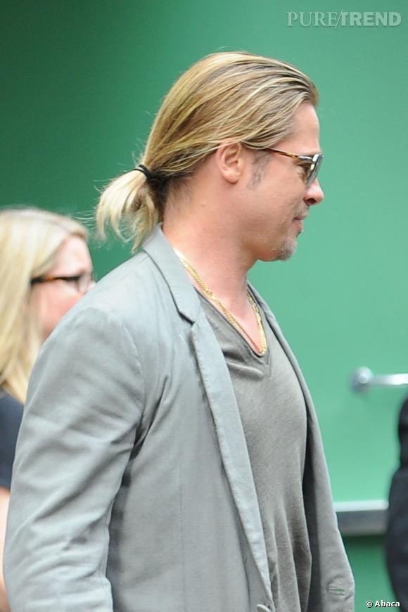 Brad Pitt, la queue de cheval dans la peau.