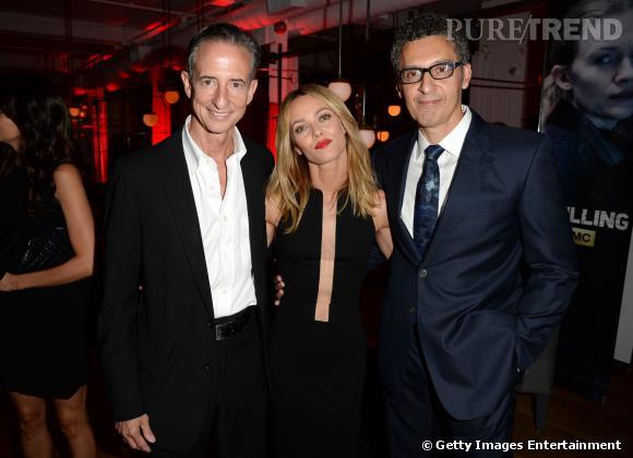Vanessa Paradis bien entourée de Bill Block et John Turturro lors du Festival du film de Toronto 2013.