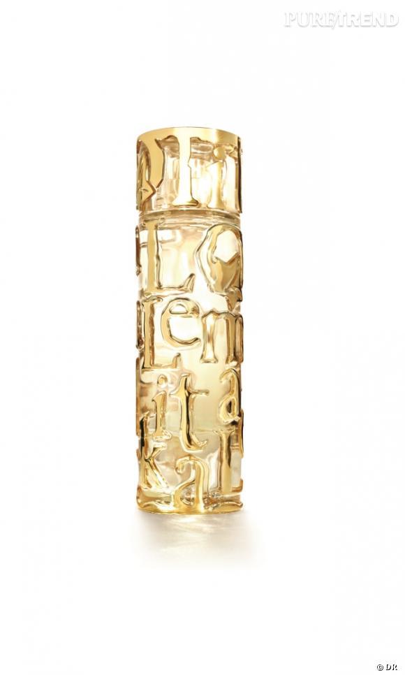 Elle L'Aime de Lolita Lempicka est contenu dans un magnifique flacon, écrin d'or et de lumière.