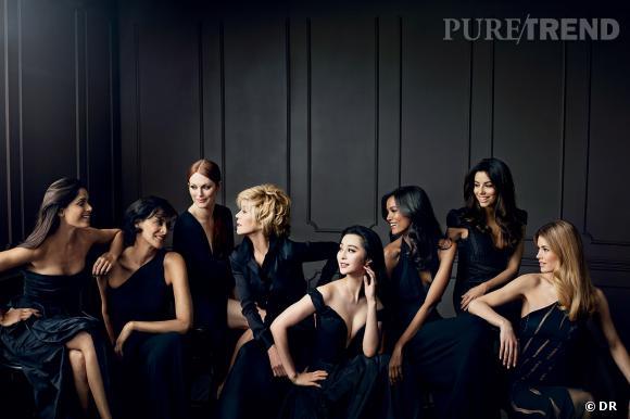 Les égéries L'Oréal sont mises en scène dans une sulbime campagne aux airs de peinture classique en clair obscur.