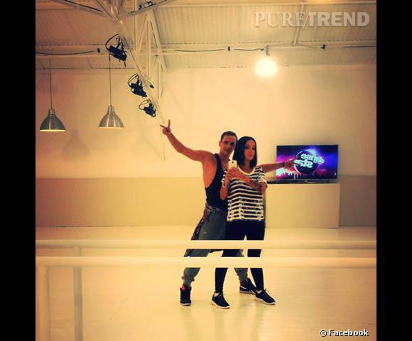 Alizée dans la salle de danse.