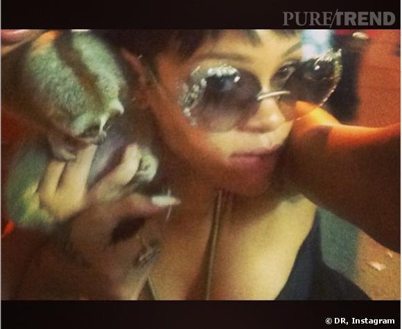 Rihanna et sa photo avec le petit Loris.