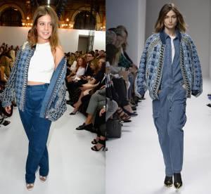 Adele Exarchopoulos  vs Podium : la veste en jean Balmain