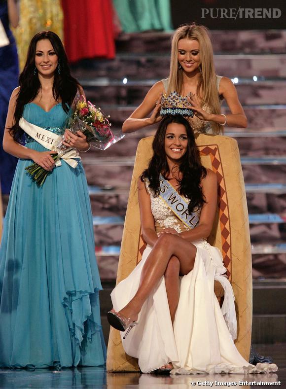 Kaiane Aldorino, Miss Gibraltar devenue Miss Monde à Johannesburg en 2009.