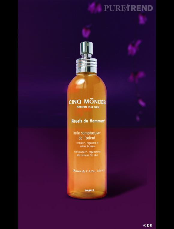 L'Huile Somptueuse d'Orient promet une hydratation efficace avec une odeur envoutante de cannelle et de cèdre.