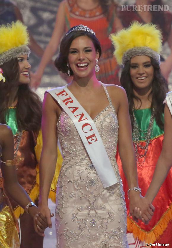 Marine Lorphelin a été couronnée première dauphine du concours Miss Monde 2013.