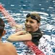 La Princesse Charlène de Monaco, toujours aussi à l'aise dans le grand bassin.