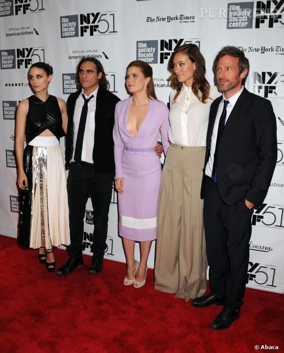 """Le casting complet (ou presque) à la première de """"Her"""" à New York."""