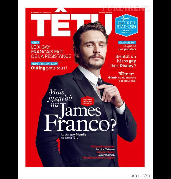 James Franco, ses confidences pour Têtu.